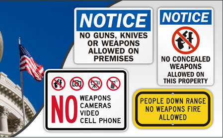 No Weapons Signage